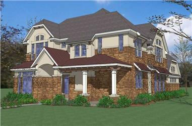 4-Bedroom, 3564 Sq Ft House Plan - 117-1086 - Front Exterior