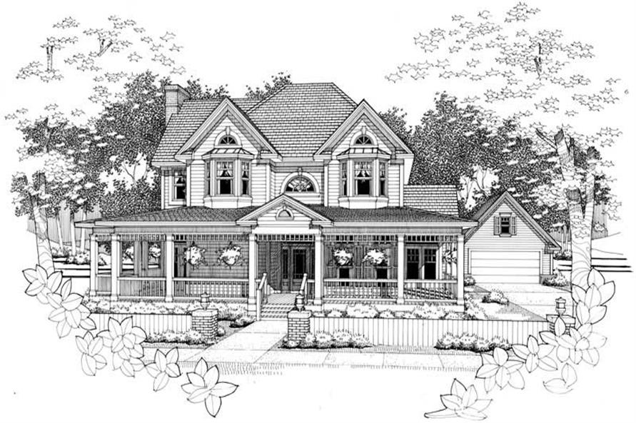 Home Plan Rendering of this 4-Bedroom,2951 Sq Ft Plan -117-1088