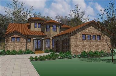 5-Bedroom, 4222 Sq Ft House Plan - 117-1089 - Front Exterior