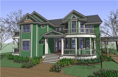 4-Bedroom, 4345 Sq Ft House Plan - 117-1090 - Front Exterior