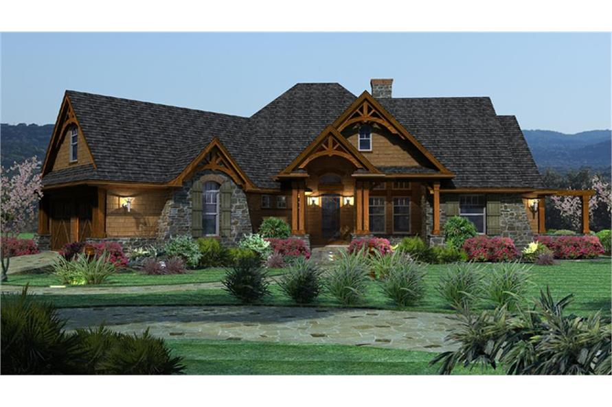Home Plan Rendering of this 3-Bedroom,2091 Sq Ft Plan -117-1092