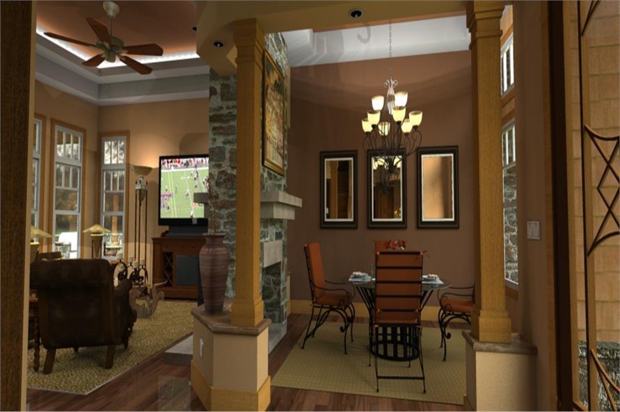 117-1092: Home Plan Rendering-Dining Room
