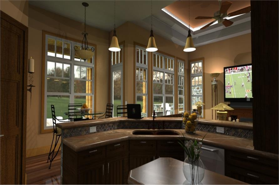 117-1092: Home Plan Rendering-Kitchen