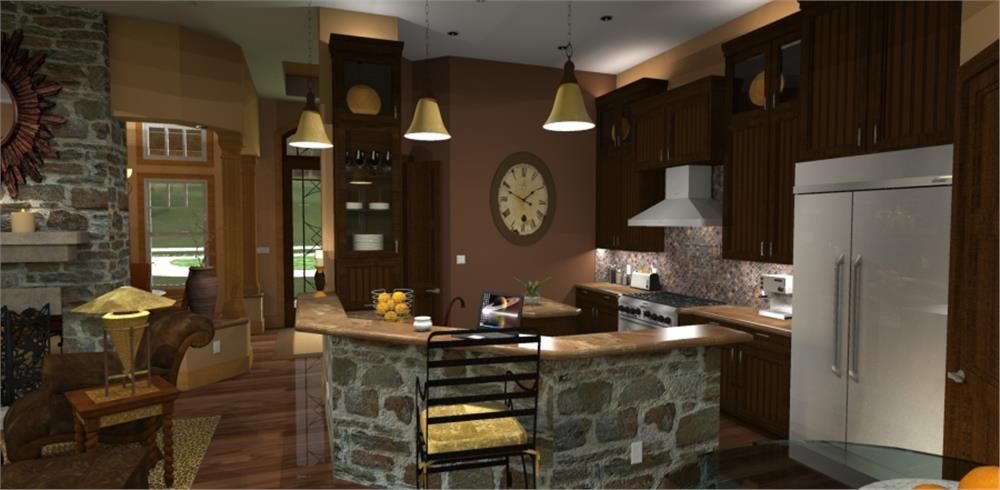 117-1092: Home Plan Rendering-Kitchen