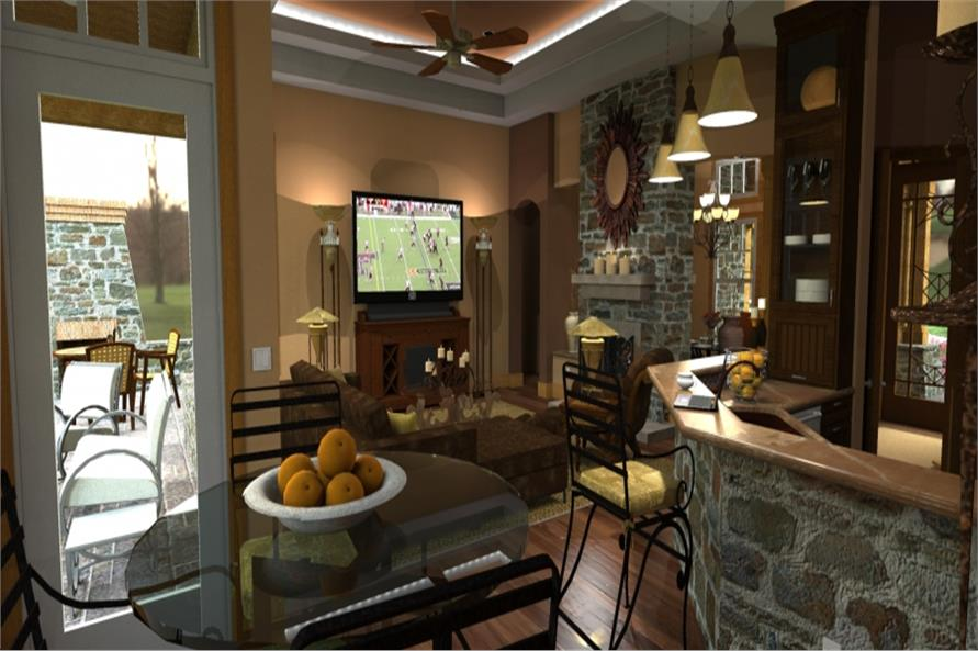 117-1092: Home Plan Rendering-Kitchen: Breakfast Nook