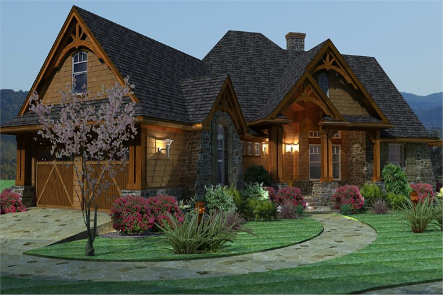 Home Plan Left Elevation of this 3-Bedroom,2091 Sq Ft Plan -117-1092