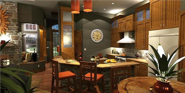 117-1092 house plan kitchen view 2