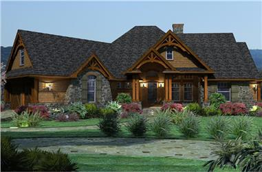 3-Bedroom, 2091 Sq Ft Ranch House Plan - 117-1092 - Front Exterior