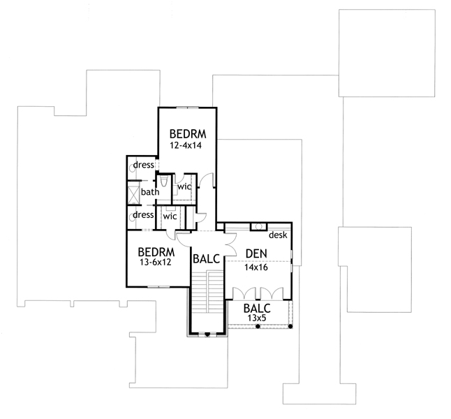 117-1093 House Plan second story
