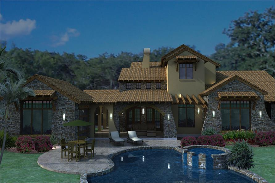 Luxury tuscan home with 4 bedrooms 3691 sq ft house for Tuscan house plans