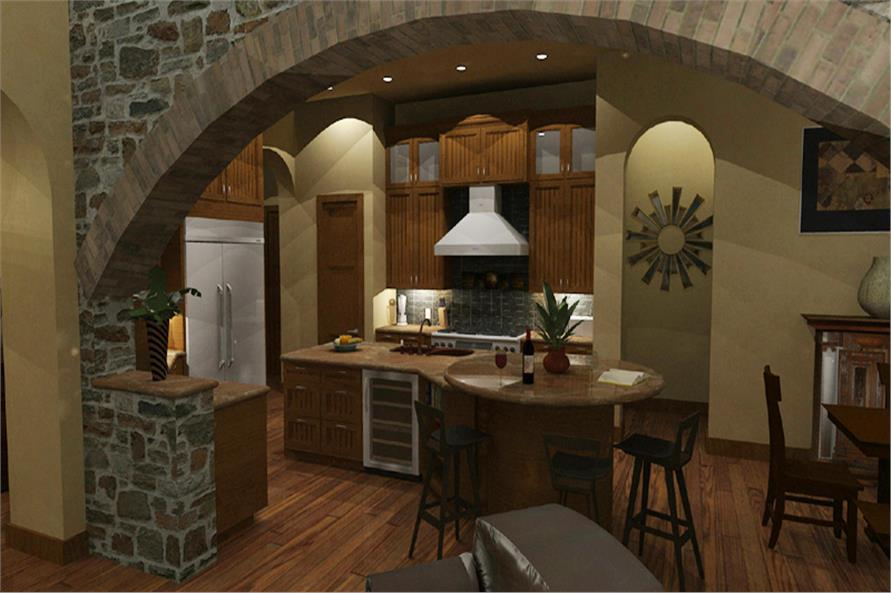 117-1093 house plan kitchen
