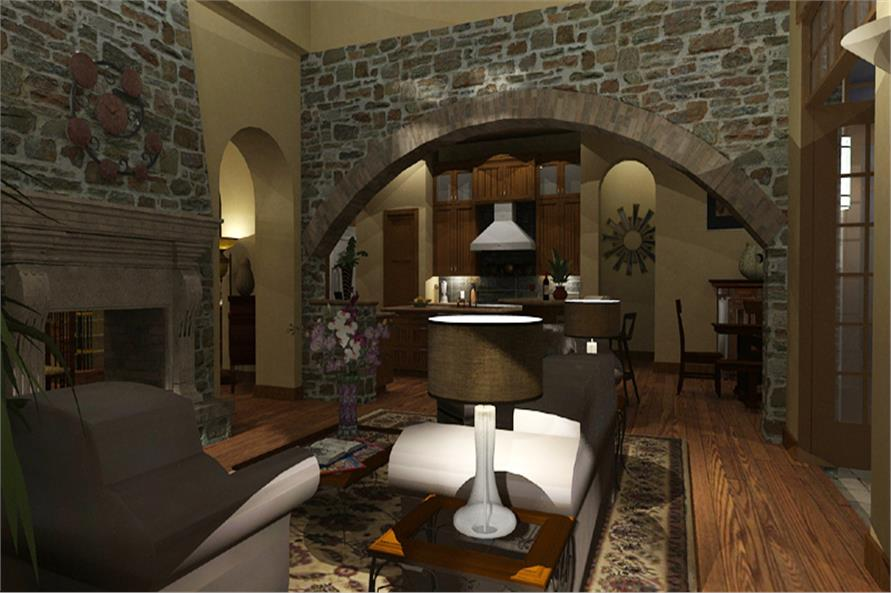 Family Room of this 4-Bedroom,3691 Sq Ft Plan -3691