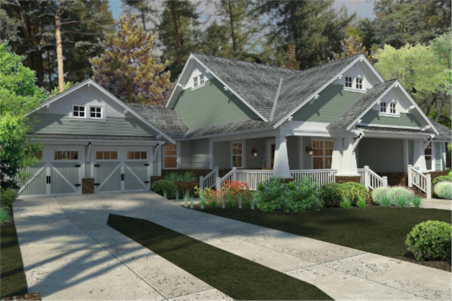 Home Plan Rendering of this 3-Bedroom,1879 Sq Ft Plan -117-1095