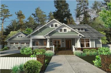 3-Bedroom, 1879 Sq Ft Craftsman Home Plan - 117-1095 - Main Exterior