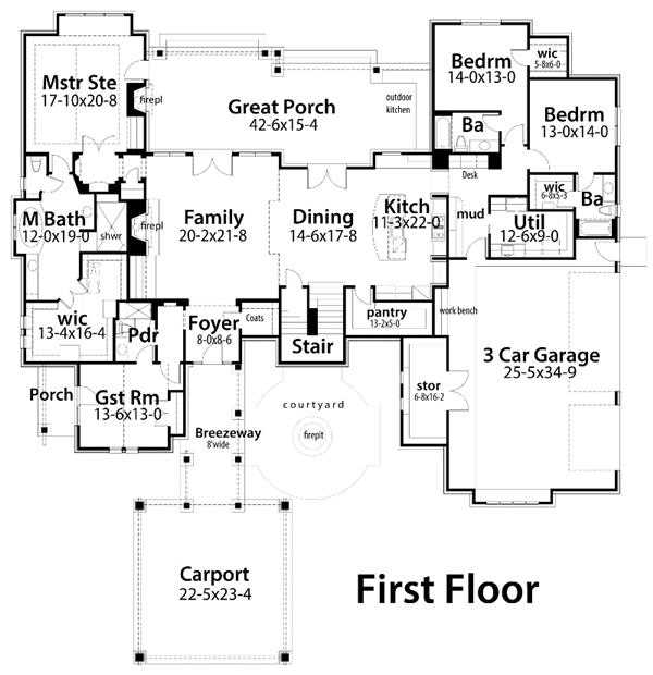 117-1096: Floor Plan Main Level
