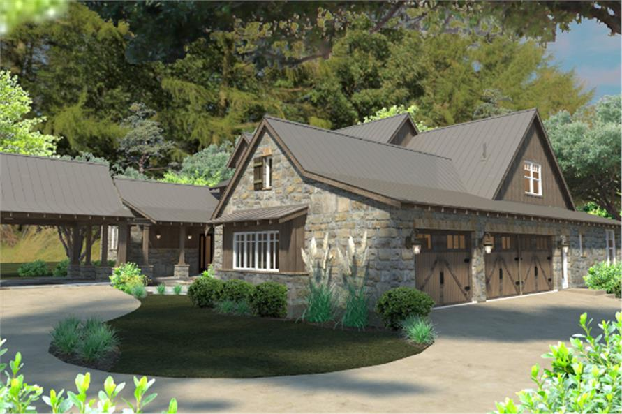 Right Side View of this 4-Bedroom,4164 Sq Ft Plan -4164