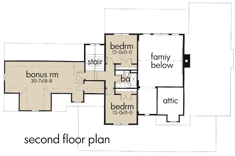 Southern house plan 117 1100 4 bedrm 2414 sq ft home for 1100 sq ft apartment floor plan
