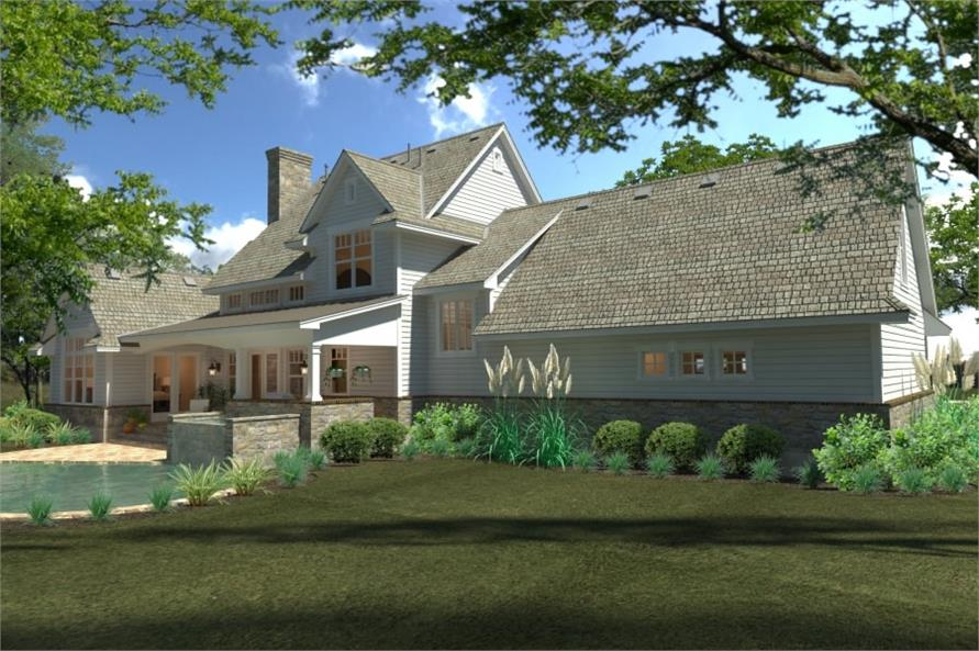 Left Side View of this 4-Bedroom,2414 Sq Ft Plan -117-1100