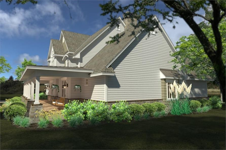 Right Side View of this 4-Bedroom,2414 Sq Ft Plan -117-1100
