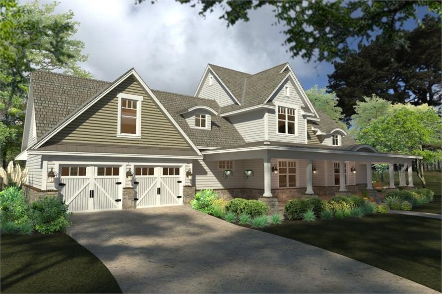 Garage of this 4-Bedroom,2414 Sq Ft Plan -117-1100