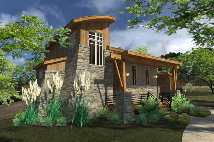 Contemporary cottage house plan 117 1101 2 bedrm 985 sq for Modern cabin house plans