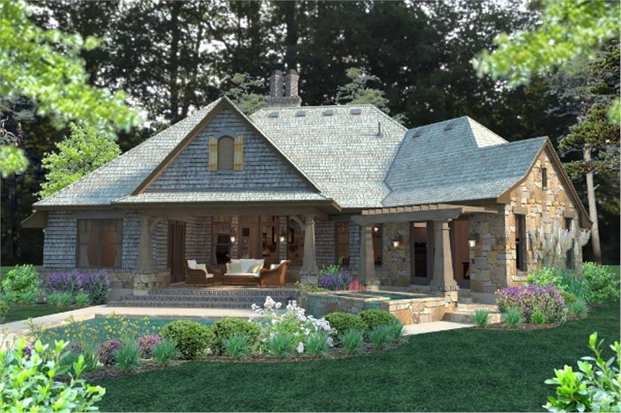117 1102 117 1102 home plan rendering - French Country Cottage House Plans