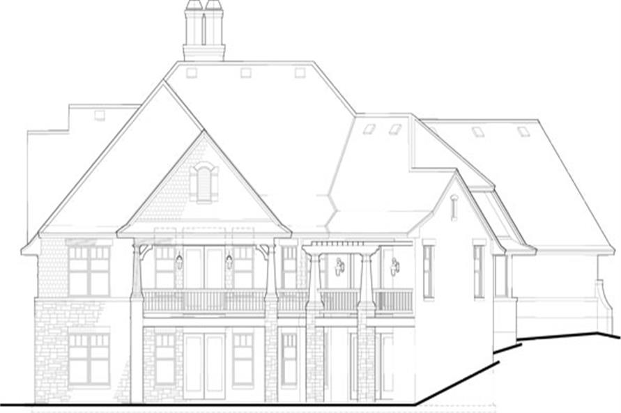 117-1102: Home Plan Rear Elevation