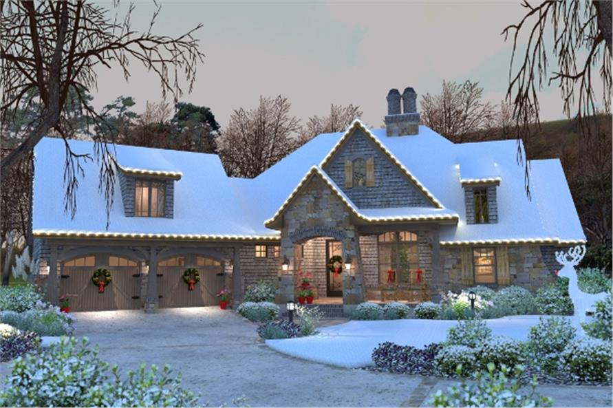 117-1102: Home Plan Rendering-Home at Holidays