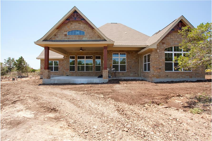 Rear View of this 3-Bedroom,2847 Sq Ft Plan -2847