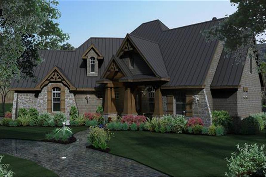 House plans with metal roof house design plans for Metal roof craftsman home