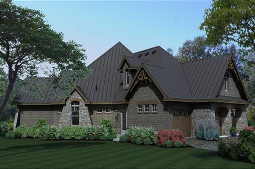 Side View of this 3-Bedroom,2847 Sq Ft Plan -2847