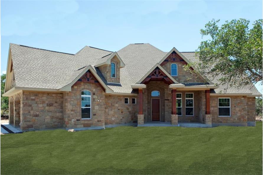 Texas Style House Plan - Design #117-1103 From The Plan Collection