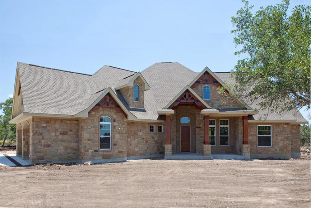 Main photo of Texas-style Craftsman home plan (ThePlanCollection: House Plan #117-1103)