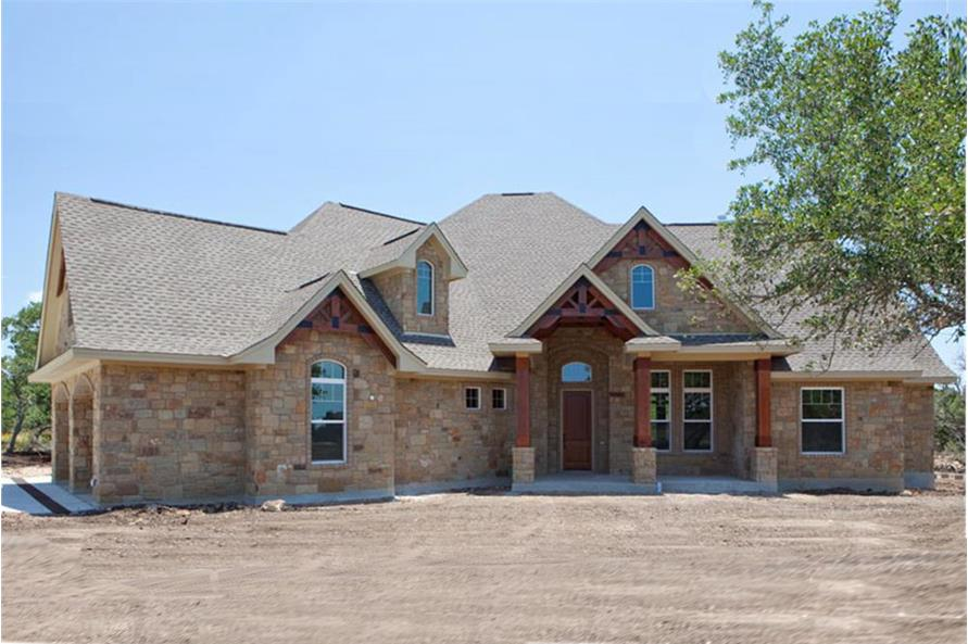 3-Bedroom, 2847 Sq Ft Texas Style Home Plan - 117-1103 - Main Exterior