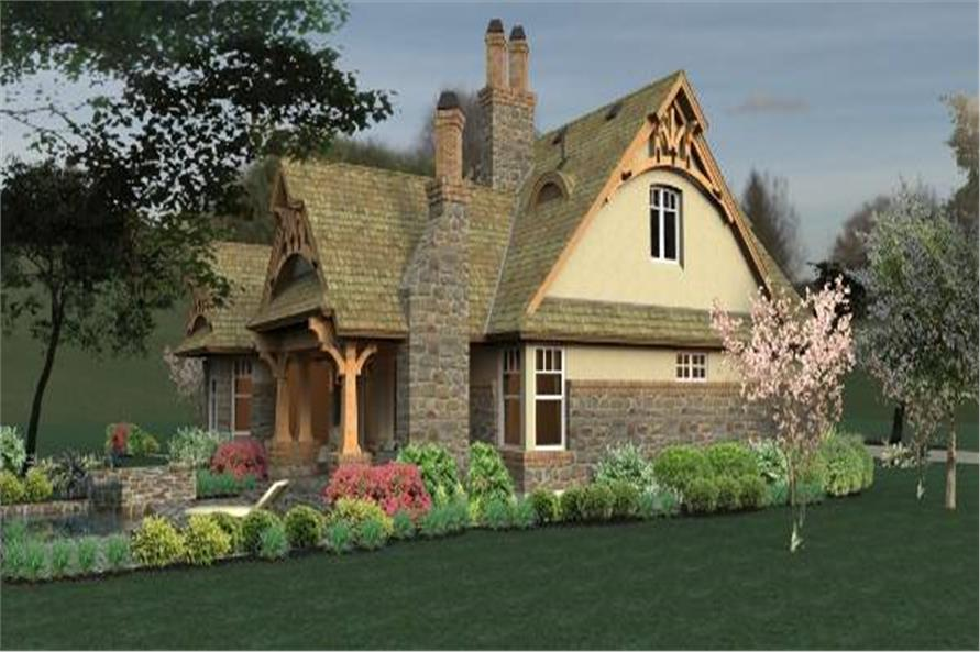 Home Plan Rendering of this 3-Bedroom,1421 Sq Ft Plan -117-1104
