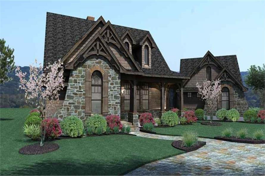 Front View of this 3-Bedroom,1698 Sq Ft Plan -117-1105