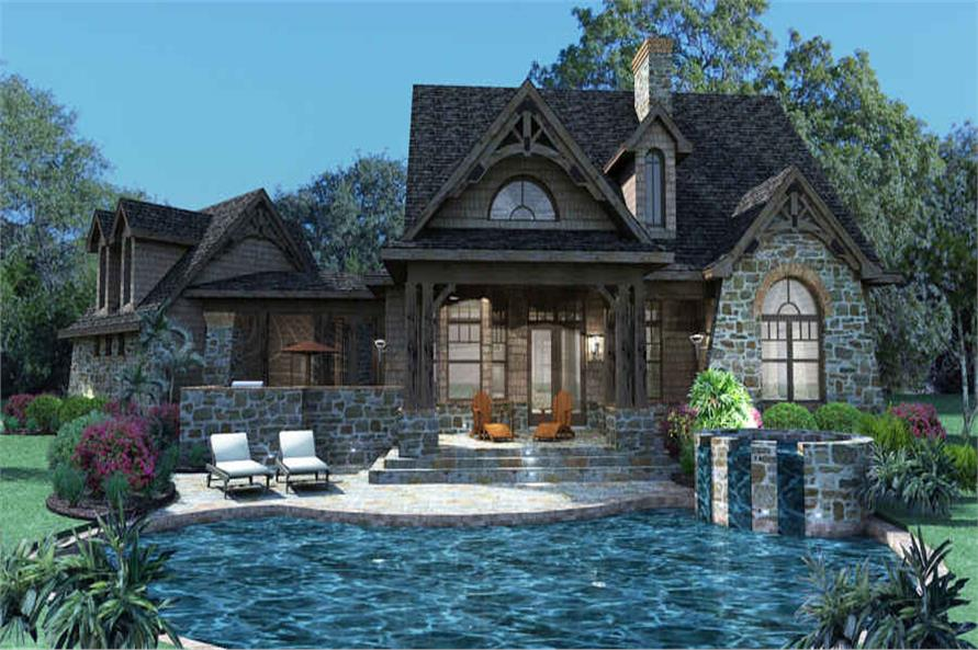 Pool of this 3-Bedroom,1698 Sq Ft Plan -117-1105
