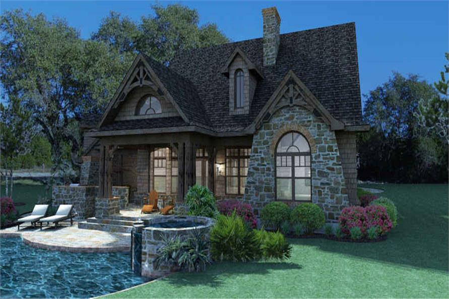 Rear View of this 3-Bedroom,1698 Sq Ft Plan -117-1105