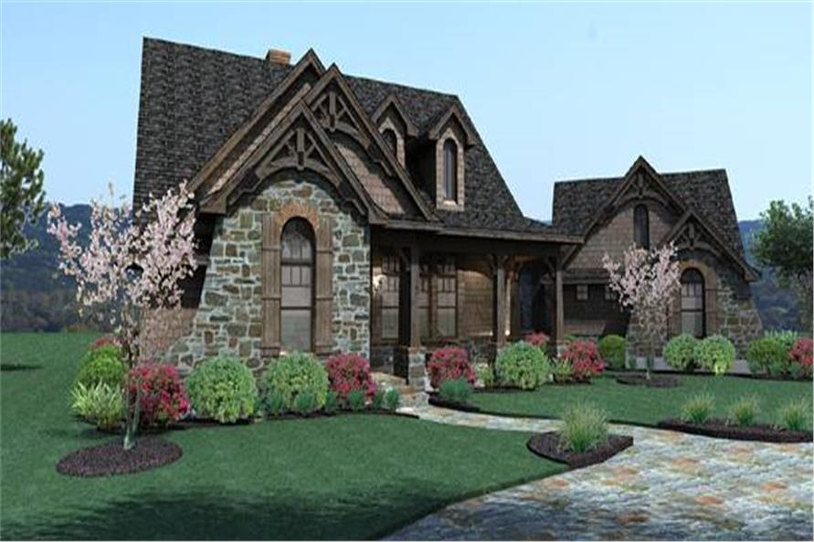 Home Plan Rendering of this 3-Bedroom,1698 Sq Ft Plan -117-1105