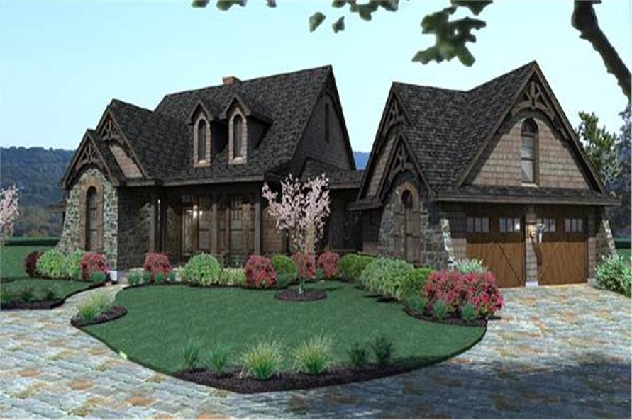 Home Plan Rendering of this 3-Bedroom,1698 Sq Ft Plan -1698