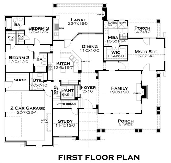 Bungalow House Plan 1171106 3 Bedrm 2267 Sq Ft Home – House Floor Plans To Scale
