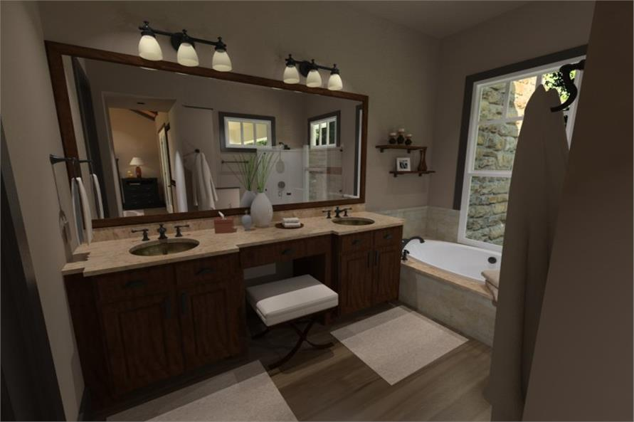 Master Bathroom of this 3-Bedroom,2267 Sq Ft Plan -2267