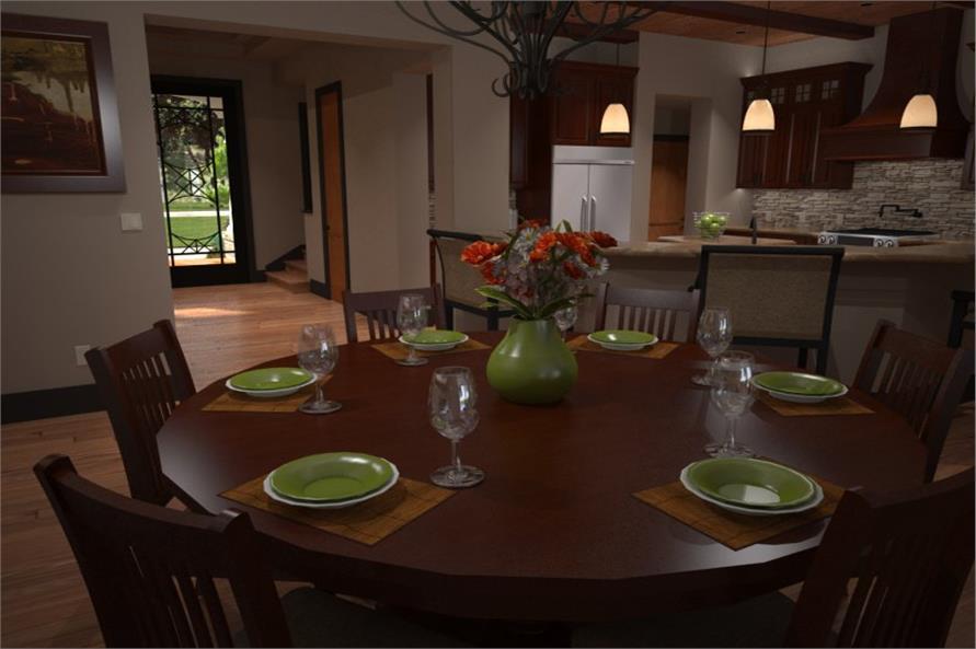 117-1106: Home Interior Photograph-Kitchen: Breakfast Nook