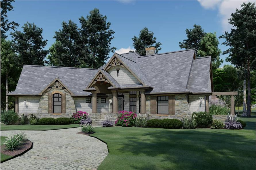 Front View of this 3-Bedroom,1848 Sq Ft Plan -117-1107