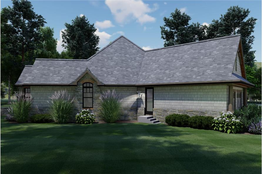 Left View of this 3-Bedroom,1848 Sq Ft Plan -117-1107