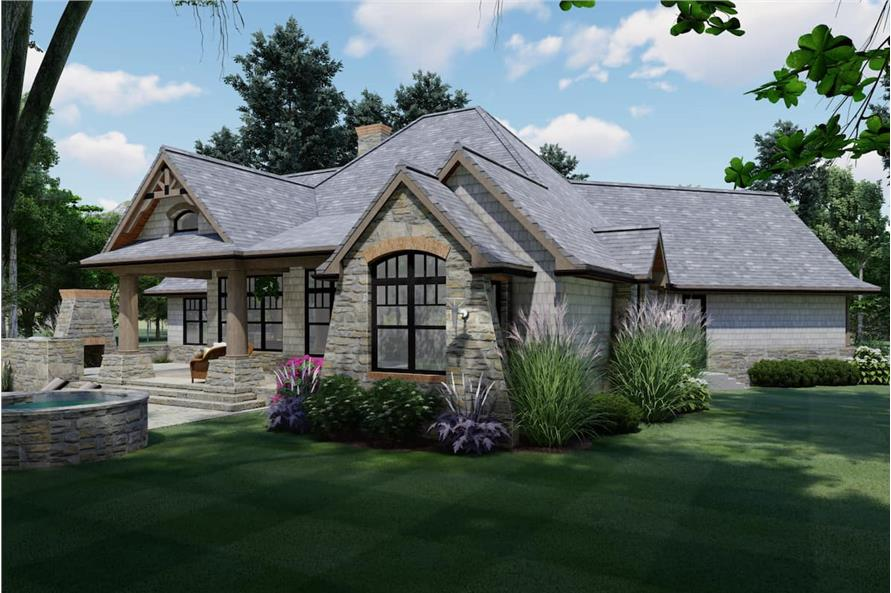Side View of this 3-Bedroom,1848 Sq Ft Plan -117-1107