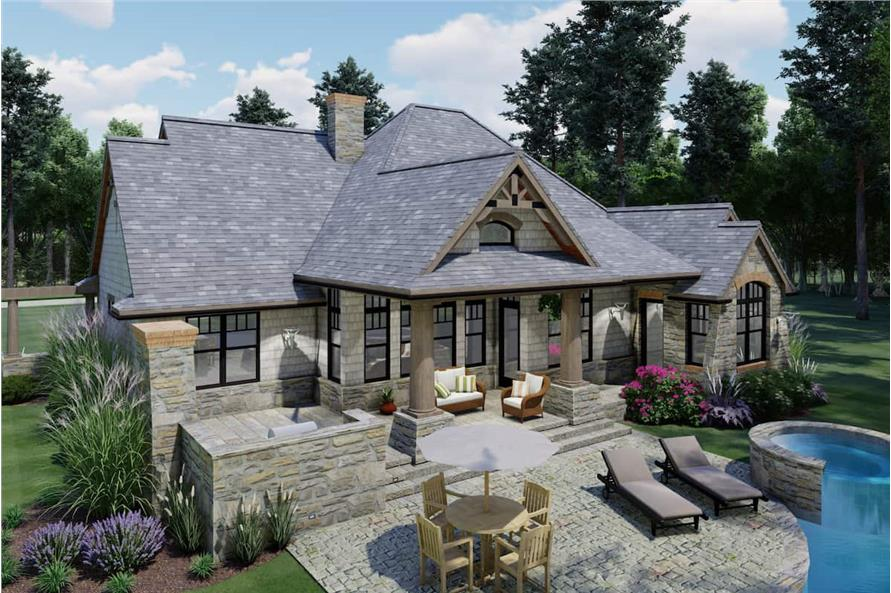 Rear View of this 3-Bedroom,1848 Sq Ft Plan -117-1107