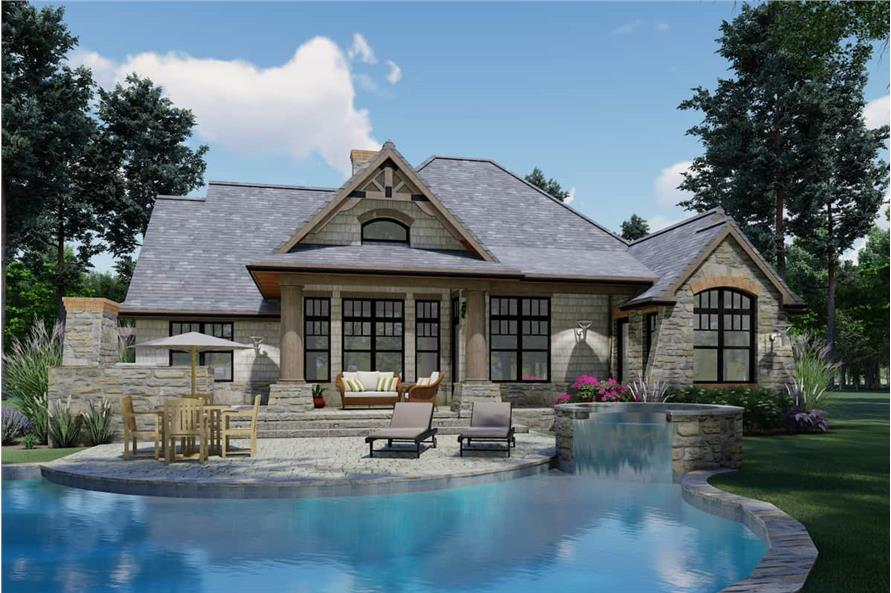 Pool of this 3-Bedroom,1848 Sq Ft Plan -117-1107