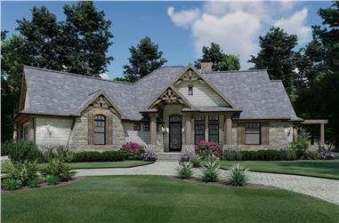 3-Bedroom, 1848 Sq Ft Ranch Home Plan - 117-1107 - Main Exterior