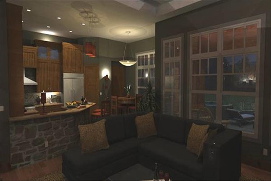 Family Room of this 3-Bedroom,2106 Sq Ft Plan -2106